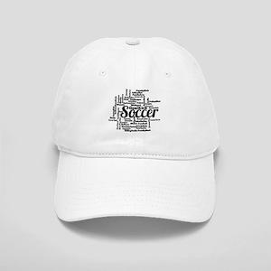 Soccer Word Cloud Baseball Cap