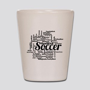 Soccer Word Cloud Shot Glass
