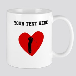 Golfer Heart (Custom) Mugs