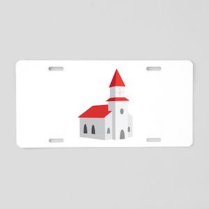 Church Aluminum License Plate