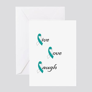 Live, Love, Laugh Greeting Card
