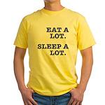 Eat A Lot, Sleep A Lot Yellow T-Shirt