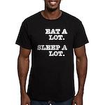 Eat A Lot, Sleep A Lot Men's Fitted T-Shirt (dark)