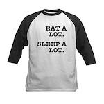 Eat A Lot, Sleep A Lot Kids Baseball Jersey