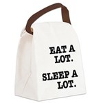 Eat A Lot, Sleep A Lot Canvas Lunch Bag