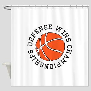 Defense Wins Championships Shower Curtain