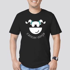 Cancer Ninja Men's Fitted T-Shirt (dark)