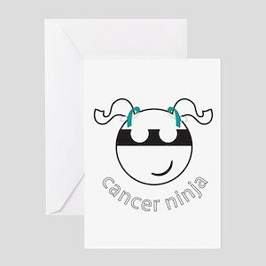 Cancer Ninja Greeting Card