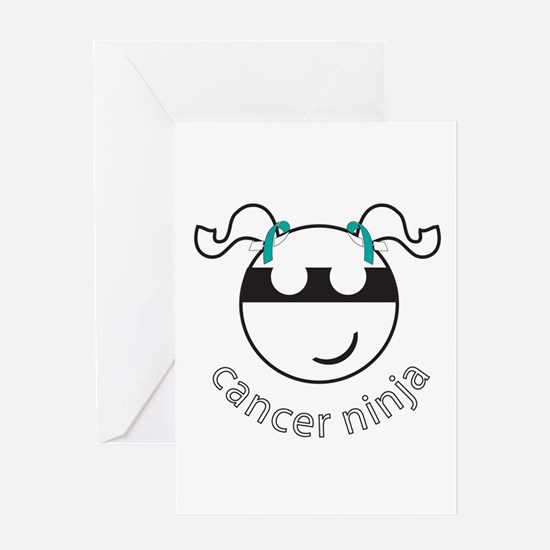 Cancer Ninja Greeting Card