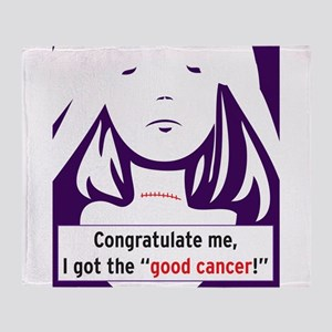the good cancer woman Throw Blanket