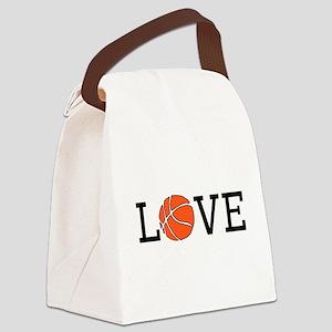Basketball Love Canvas Lunch Bag