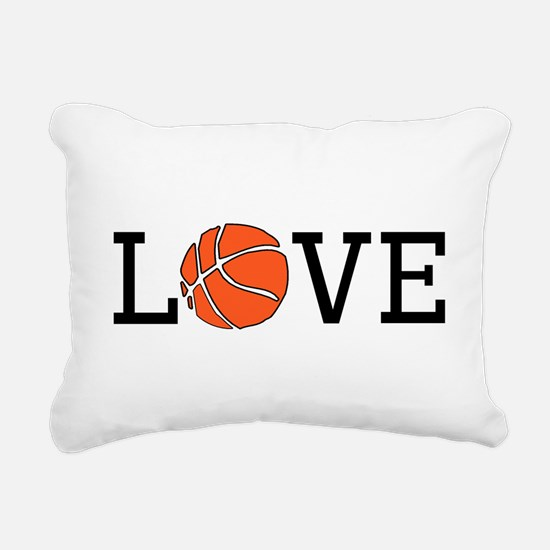 Basketball Love Rectangular Canvas Pillow