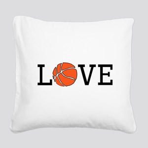 Basketball Love Square Canvas Pillow