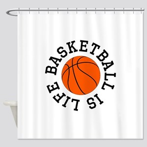 Basketball Is Life Shower Curtain