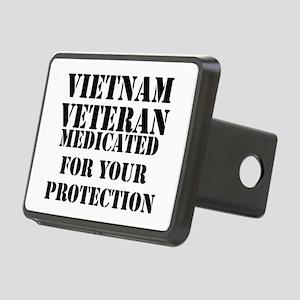 Vietnam Veteran Medicated Rectangular Hitch Cover