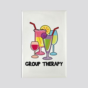 Drinks Group Therapy Rectangle Magnet