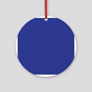 Dark Blue Solid Color Ornament (Round)