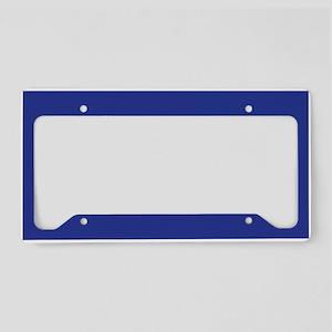 Dark Blue Solid Color License Plate Holder