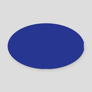 Dark Blue Solid Color Oval Car Magnet