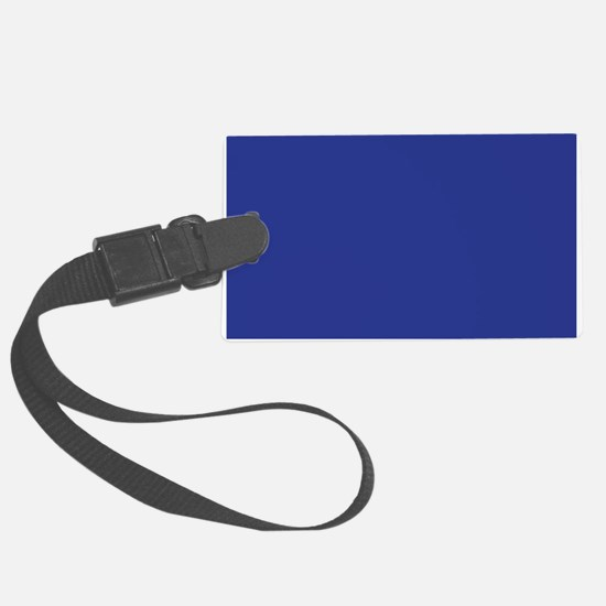 Dark Blue Solid Color Luggage Tag