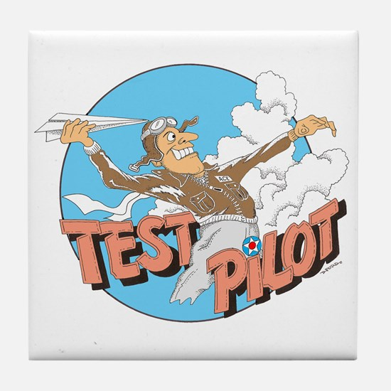TEST PILOT Tile Coaster