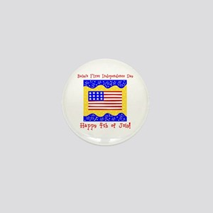Baby's 1st 4th of July Mini Button