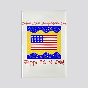 Baby's 1st 4th of July Rectangle Magnet