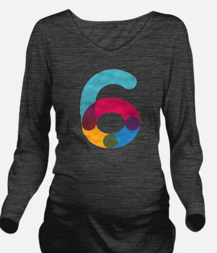 The Number 6 Long Sleeve Maternity T-Shirt