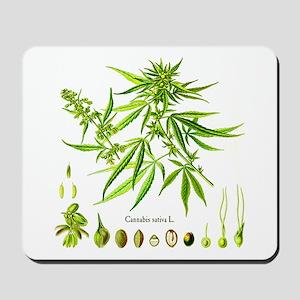 Cannabis Sativa L. Mousepad