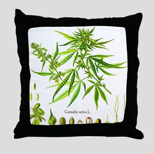 Cannabis Sativa L. Throw Pillow