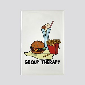 Food Group Therapy Rectangle Magnet