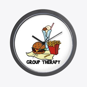Food Group Therapy Wall Clock