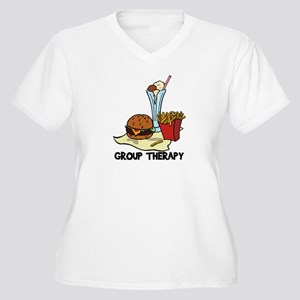 Food Group Therapy Women's Plus Size V-Neck T-Shir