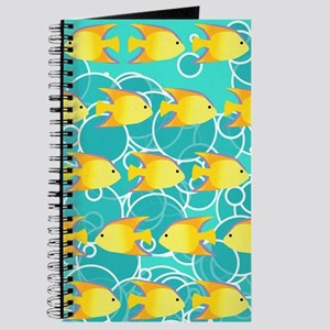 Yellow fish pattern Journal