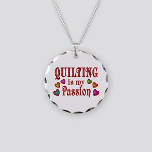 Quilting Passion Necklace Circle Charm