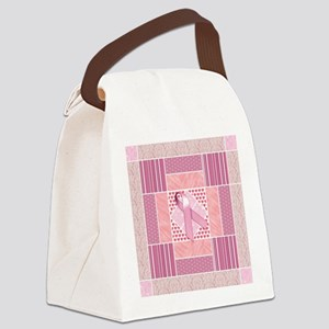 Pink Tribute to Breast Cancer Sur Canvas Lunch Bag