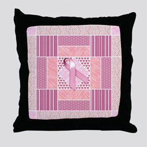 Pink Tribute to Breast Cancer Survivo Throw Pillow