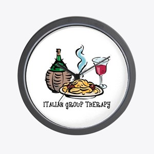 Italian Group Therapy Wall Clock