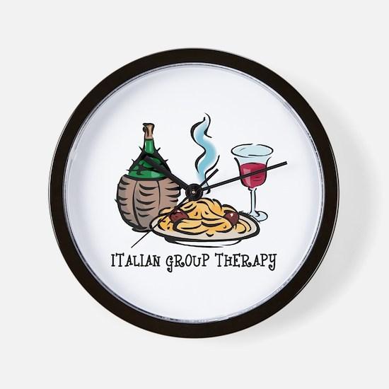 Italian Group Therapy Wall Clock