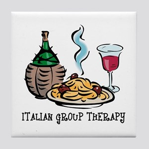 Italian Group Therapy Tile Coaster