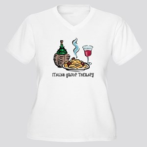 Italian Group Therapy Women's Plus Size V-Neck T-S