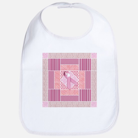 Pink Tribute to Breast Cancer Survivors Patchw Bib