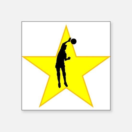 Volleyball Spike Silhouette Star Sticker