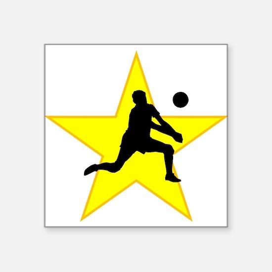 Volleyball Set Silhouette Star Sticker