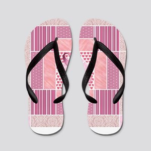 Pink Tribute to Breast Cancer Survivors Flip Flops