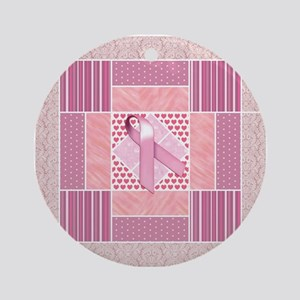 Pink Tribute to Breast Cancer Sur Ornament (Round)