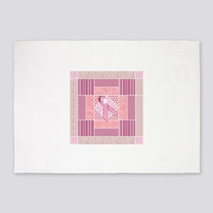 Pink Tribute to Breast Cancer Survi 5'x7'Area Rug