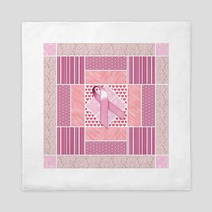 Pink Tribute to Breast Cancer Survivor Queen Duvet