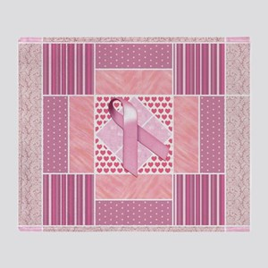 Pink Tribute to Breast Cancer Surviv Throw Blanket