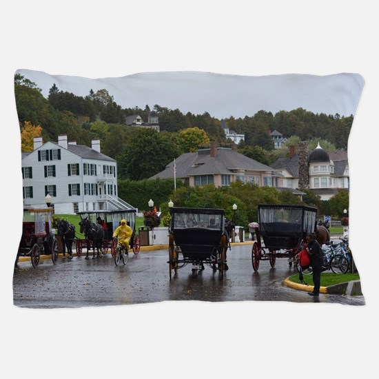 Cute Horses carriages Pillow Case